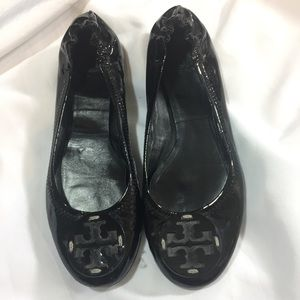 Tory Burch Reva Flats Patent Leather Sz 7.5
